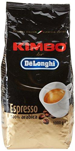 Kimbo per De Longhi Caffè 100% Arabica in Chicchi - 1 Kg - per Macchine da Caffé Automatiche