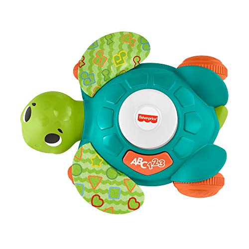 Fisher -Price -Tartaruga Gattona con me, Giocattolo per Imparare a Camminare con Luci e Suoni,per Bambini 9+ Mesi, HBJ43