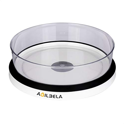 AGILBELA Clear Lazy Susan Turntable and Cabinet Organizer with One Large Bin 115-Inch