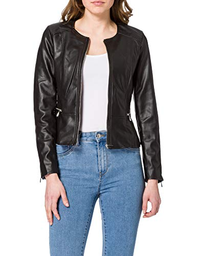 ONLY Damen ONLJENNY Faux Leather CC CS OTW Jacket, Black, S