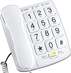 in budget affordable Packard Bell PB300WH Senior Button Phone with Speaker