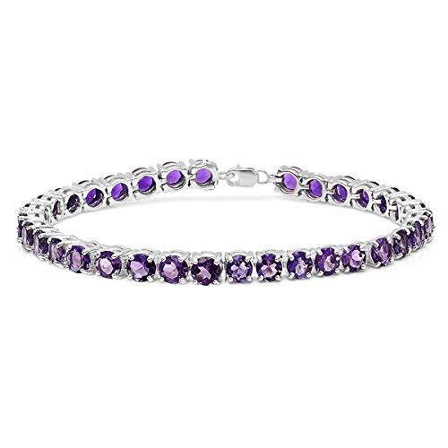 Round Gemstone Ladies Tennis Bracelet by Dazzlingrock Collection