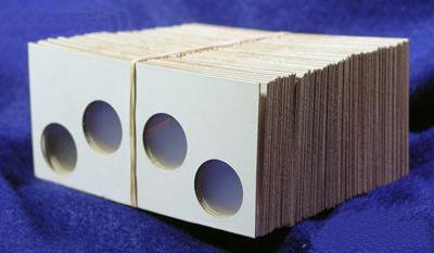 100 2×2 Cardboard Coin Holders 2-COIN SET (Cents and Dimes)