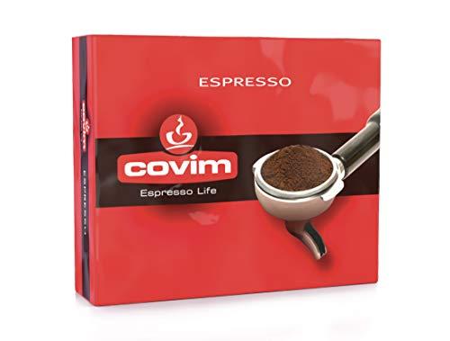 Covim Caffè, Macinato Espresso, macinato per Moka - confezione con 2 pacchetti sottovuoto da 250 g - Totale 500g