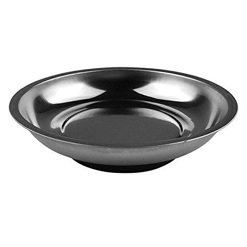 TOOGOO Cerchio Parti in acciaio inox con magnete Ciotola per utensile Viti a bullone Viti Vassoio parziale Piastra magnetica Piastra Argento 3 pollici
