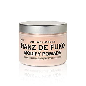 Hanz de Fuko Modify- Premium Mens Hair Styling Pomade with High Shine Finish  2oz