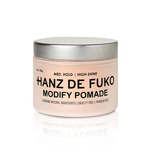 Hanz de Fuko Modify- Premium Mens Hair Styling Pomade with High Shine Finish (2oz)