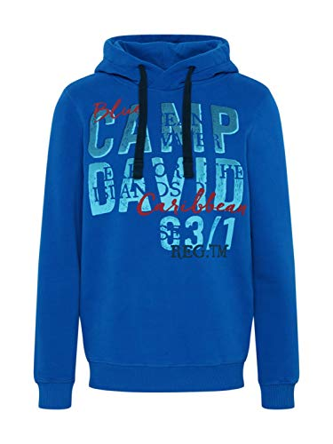 Camp David Herren Hoodie Langarm mit Kapuze CCU-2000-3942 (XXXL, Flight Blue)