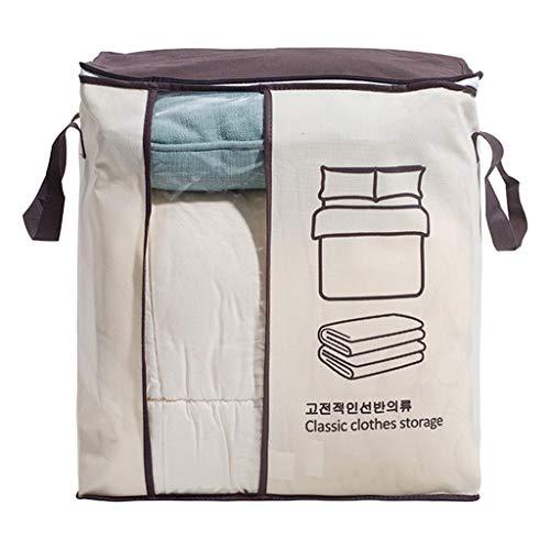 SMEJS Caja de almacenamiento no tejida para guardar espacio en la cama, debajo del armario, organizador de ropa, organizador de bolsas de edredón (color: D)