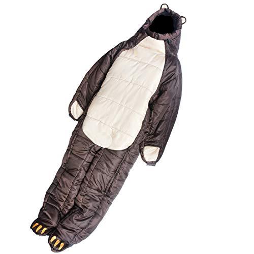 DOLA Body Shape Orso Bruno Adulti Sacco A Pelo, Completo Indossabile, Confortevole, Impermeabile, Adatto al Coperto Camminata Apprendimento sul Lavoro, di Campeggio Esterna Viaggi,M