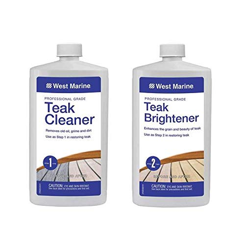 West Marine - Heavy Duty Teak Cleaner Kit - 2 Part