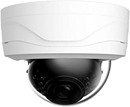 DHTek 2MP 4-in-1 HD-CVI/TVI/AHD/960H Vandal Dome Security Camera, OEM HAC-HDW1200E 2.8mm Wide Angle Lens, Weatherproof IR Night Vision 1080P Digital WDR CCTV Video Surveillance (2.4MP White 2.8mm)