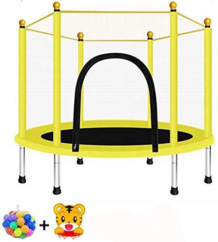 XLYAN Trampoline, Mini Trampoline Jumping Fitness para Niños Y Adultos, Trampoline Interior/Exterior, Peso Máximo: 440 LB,Yellow