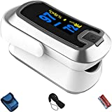Best VIVE Blood Pressure Monitors Wrists - mibest Silver Dual Color OLED Finger Pulse Oximeter Review