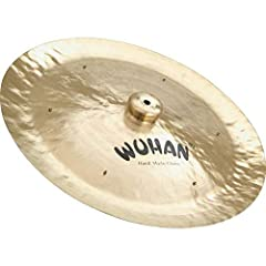 Model: WU10418 18 inch cymbal Wuhan cymbals made of high-quality cast B20 alloy dark explosive trashy Handcrafted according to a two-thousand- year old traditional methods Buffed to a brilliant finish stamped with unobtrusive but attractive logo