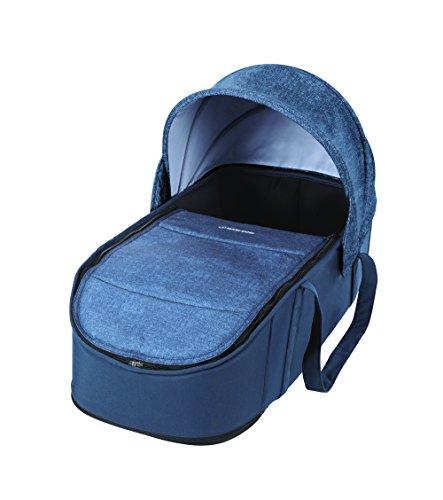 Maxi-Cosi Laika bequem gepolsterte und geräumige Softtragetasche, Kinderwagenaufsatz ab Geburt verwendbar, nomad blue