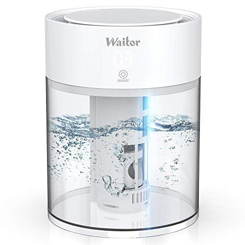 Waitor Cool Mist Humidifier 3L Top Fill Ultrasonic Air Humidifier for bedroom Baby Room, Essential Oil Humidifiers Diffuser with Adjustable Mist Output Sleep Mode Auto Shut Off