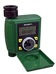 """Single-station digital programmable faucet water timer with impulse solenoid valve attaches to any garden outdoor hose faucet with a standard ¾"""" (GHS) thread and offers flexible and effective control of watering frequency and duration with simple, st..."""