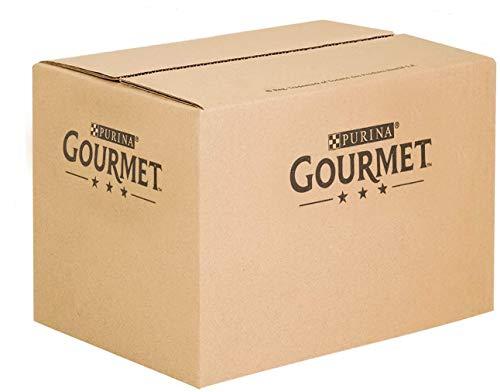 Purina Gourmet Gold Umido Gatto Mousse con Pesce, con Fegato, con Tacchino, con Manzo Prelibato - 96 Lattine da 85 g Ciascuna (12 Confezioni da 8 x 85