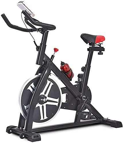 NKTJFUR Bici di esercitazione Stazionario 330 libbre di capacità di peso - Bici da ciclismo indoor con monitoraggio LCD per allenamento domestico, esercizio fisso Bici in esecuzione cardio ciclismo bi