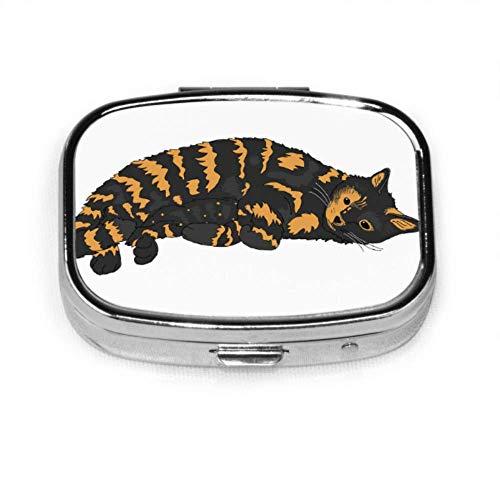Cat Tortoiseshell Cat Cute Cat Schildpatt Kitty Multicolor Pill Box Damen Pill Box Organizer Fall