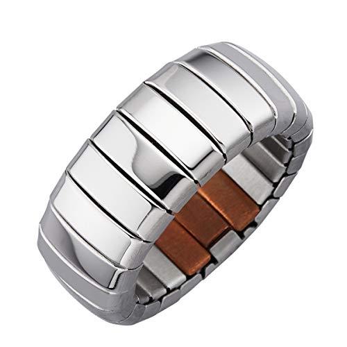 Magnetic Balance Magnetschmuck Ring Damenring Magnetring Elastisch Magnet 1200 Gauß Ringbreite Breite 10mm (58-60)