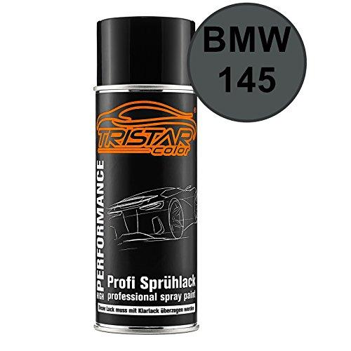 TRISTARcolor Autolack Spraydose für BMW 145 Dunkelgrau Basislack Sprühdose 400ml