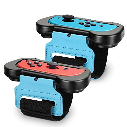 Wrist Bands Compatible with Nintendo Switch Controller Game Just Dance 2021/2020/2019, Adjustable Elastic Strap Compatible with Joy-Cons Controller, Two Size for Adults and Children, 2 Pack