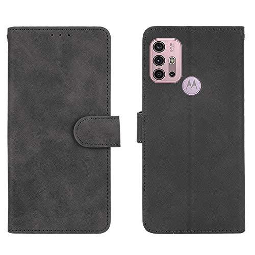 GOGME Leder Hülle für Motorola Moto G30 / Moto G10 Hülle, Premium PU/TPU Leder Folio Hülle Schutzhülle Handyhülle, Flip Hülle Klapphülle Lederhülle mit Standfunktion und Kartensteckplätzen, Schwarz