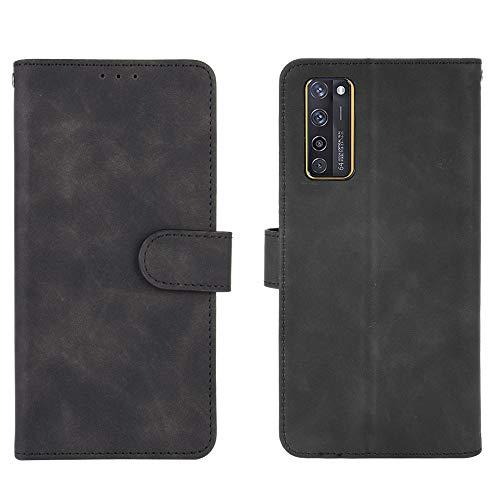 Jierich für ZTE Axon 20 5G/4G Hülle,Premium Leder Flip Wallet Schutzhülle,mit Kartensteckplätze Standfunktion & Magnetisch PU Tasche Schutzhülle passt für ZTE Axon 20 5G/4G-Schwarz