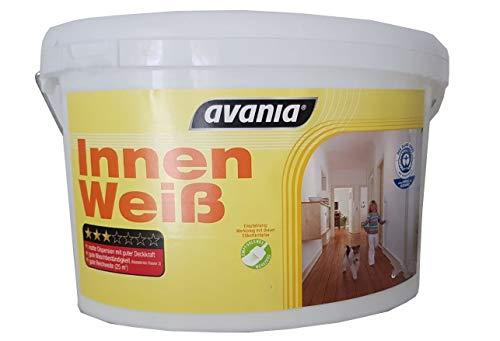 Avania Wandfarbe Innen Weiß Matt 2,5 Liter