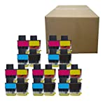 Inktoneram Compatible Ink Cartridges Replacement for Brother LC41 LC-41 DCP-110C DCP-115C DCP-120C DCP-310CN DCP-315CN MFC-210C MFC-215C MFC-410CN MFC-420CN MFC-425CN MFC-620CN ([5BK,5C,5M,5Y], 20Pk)