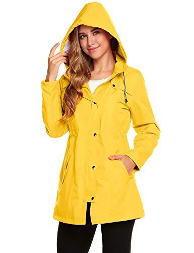 Chubasquero marinero amarillo para mujer
