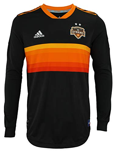 adidas Men's MLS Cllimacool Authentic Long Sleeve Jersey, Houston Dynamo Small