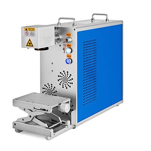 Guellin 30W Máquina de Marcado de Fibra 110mm x 110mm Máquina de Grabado Láser Fiber Laser Marking Machine con Función de Enfoque Láser de 32 bits 64 bits (30w)