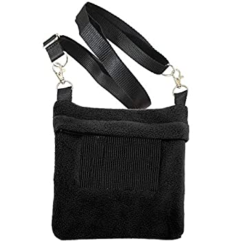 Exotic Nutrition Economy Carry Bonding Pouch  Black  - for Sugar Gliders Squirrels Marmosets Hamsters Rodents Rats Reptiles & Other Small Pets
