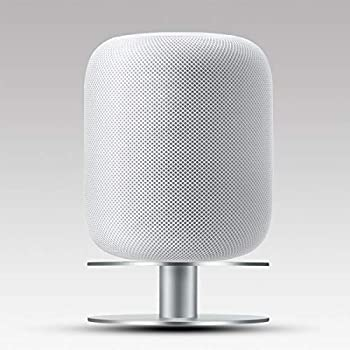 Stand for Apple HomePod AutoSonic Aluminum Base Mount Accessories Compatible with Apple HomePod Fully Aluminum Build Anti-Slip Base Silver 2019 Release