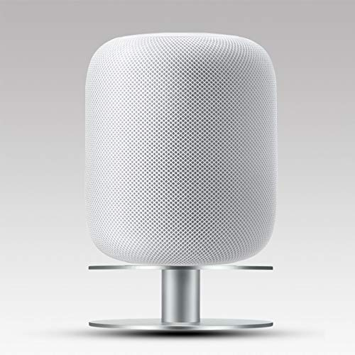 AutoSonic Stand for Apple HomePod, Aluminum Base Mount Accessories Compatible with Apple HomePod, Fully Aluminum Build, Anti-Slip Base, Silver, 2019 Release