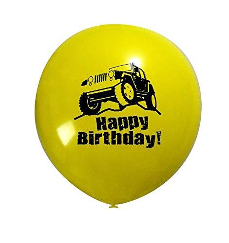 RDC Sport Utility Vehicle Happy Birthday Party Balloons Bouquet, 10pc Latex