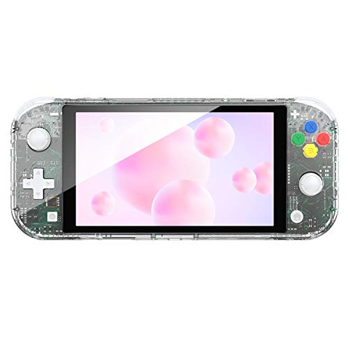 NSL Joycon Handheld Controller Housing DIY Replacement Shell Case for Nintendo Switch Lite Joy-Con Without Electronics (Set-Matte Clear)