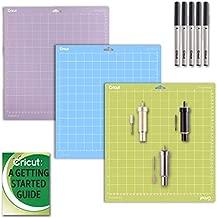 Cricut Maker and Explore Air 2 Blade Accessories Kit: Variety (3) GripMats, and Pen Set Bundle