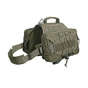 EXCELLENT ELITE SPANKER Dog Pack Hound Dog Saddle Bag Backpack for Travel Camping Hiking Medium & Large Dog with 2 Capacious Side Pockets(RGN)