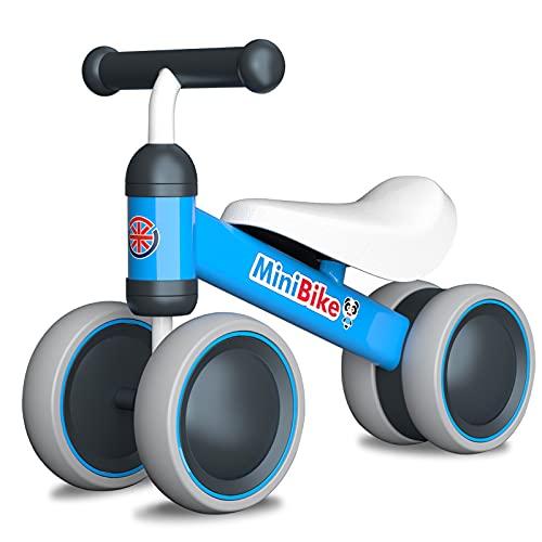 YGJT Bicicleta sin Pedales para Bebe de 1 Año, Correpasillos Juguetes Bebes para ejercita Las Habilidades de coordinación de su bebé, Excelente Regalo para Bebe de 1 Año (Azul)