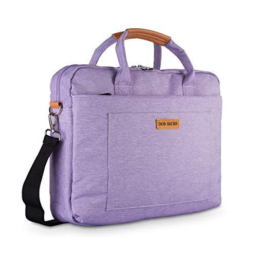 DOB SECHS 15-15.6 Zoll Laptoptasche Aktentaschen Handtasche Tragetasche Schulter Tasche Notebooktasche Laptop Sleeve Laptop hülle für bis zu 15.6 Zoll Laptop Dell Alienware/MacBook/Lenovo/HP, violett