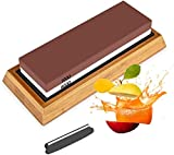 Whetstones Knife Sharpening Stone Set, Dual Grit Whetstone 1000/6000 Knife Stone, Wet Stone Knife...