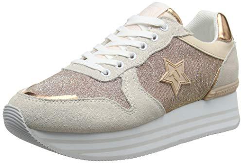 Trussardi Jeans Running High Outsole, Sneaker Donna, Rosa (Rose P130), 36 EU