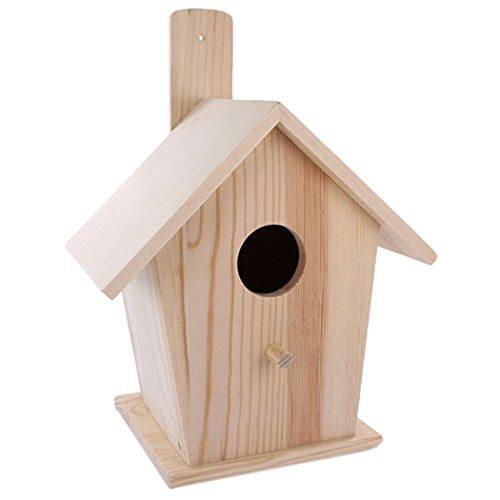 La Fourmi groot vogelhuisje dennenhout-18 x 12,5 x 23,5cm, Beige, standart