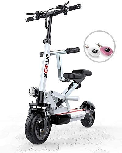 CEXTT Un Scooter eléctrico con Asientos Desmontables, 10,5 Pulgadas neumático neumático 500W Modo de Motor sin escobillas 3 Velocidad de un Freno de Doble Disco 25 KM/Display H LED de Velocidad máxi