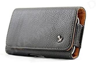 Premium Horizontal Pebbled Leather Carrying Pouch Case for T-Mobile myTouch Slide 4G Android Phone, Khaki (T-Mobile)