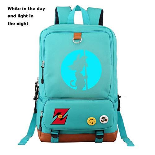 XMXYLP Sac à Dos Universel étanche pour l'école de Voyage en Plein air Sac à Dos Sac à Dos imprimé d'anime Lumineux, Bleu Ciel, 21 Pouces